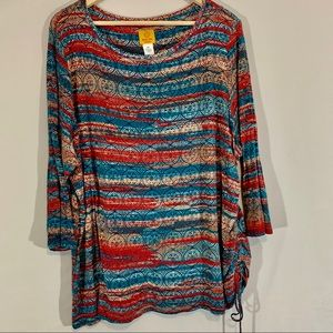 Ruby Rd. colorful plus size top so 3X
